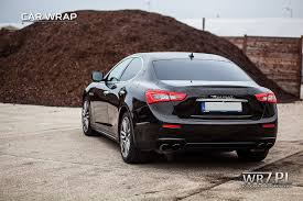 metallic maserati maserati ghibli black gloss metallic u2013 zmiana koloru car wrap poland