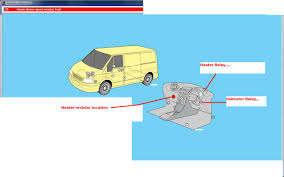 relay position of blow heater in ford transit 2002