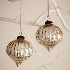 large antique effect glass bauble set of two by paper