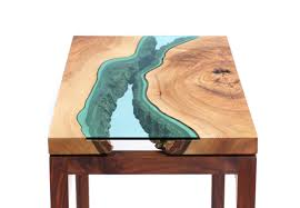 Turquoise Entry Table by Beautiful River Inspired Wooden Tables By Greg Klassen