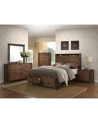 queen size bedroom set with storage big deal on merrilee oak brown 4 piece storage bedroom set queen