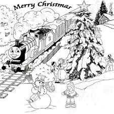 thomas train winter coloring pages kids christmas