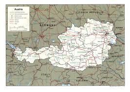 World Map Austria by
