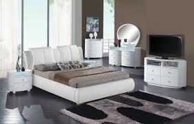 Upholstered Bedroom Sets Emily Bedroom Set W White Upholstered Bed Bedroom Sets
