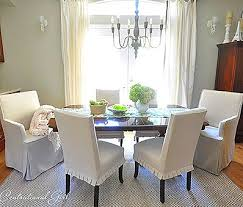 White Slipcover Dining Chair Dining Room Top White Slipcover Only For Slip Side Chair Crate And