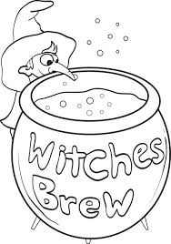 free printable witch coloring kids 6