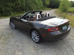 fiat spider 2016 on the road review fiat 124 spider roadster the ellsworth