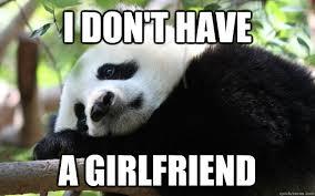 Funny Panda Memes - i don t have a girlfriend sad panda quickmeme