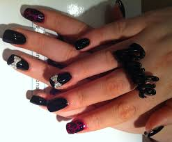 28 extraordinary all black acrylic nails u2013 slybury com