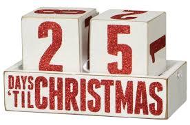 christmas countdown calendar box sign days til christmas countdown blocks wooden