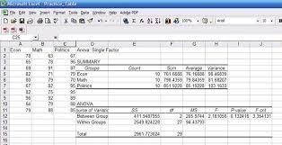 pdf table to excel descriptive statistics excel stata