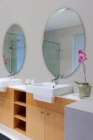 36 X 48 Bathroom Mirror by 24 X 48 Inch Oval 1 4 Inch Thick Beveled Polished Mirror Oval