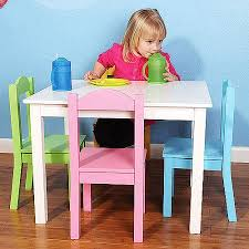 Toddler Table And Chairs Wood Tot Tutors Wood Table And Chair Set Multiple Colors Walmart Com