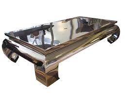 modern stainless steel coffee table sophisticated frame polished t