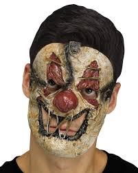 zombie clown half mask for halloween horror shop com