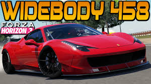 ferrari 458 widebody forza horizon 3 liberty walk ferrari 458 race build u0026 test youtube