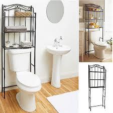 bathroom storage rack over toilet shelf bath towel holder 3