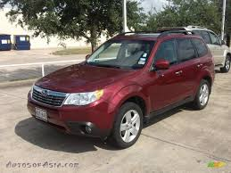 red subaru forester 2009 subaru forester 2 5 x l l bean edition in camellia red pearl