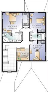 Narrow Home Floor Plans House Plan W3858 Detail From Drummondhouseplans Com