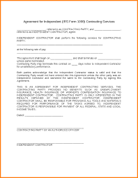 9 independent contractor agreement template letter template word