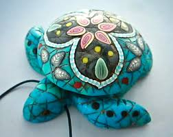 polymer clay turtle etsy
