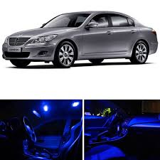 2015 Hyundai Genesis Interior 14x Full Blue Led Interior Lights Package Kit For 2009 2015