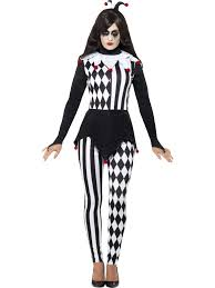 female jester costume halloween cirque sinister fancy dress