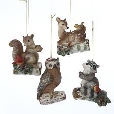 woodland animal ornaments 4 assorted kurt s adler