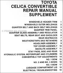 1984 1985 toyota celica convertible repair shop manual original