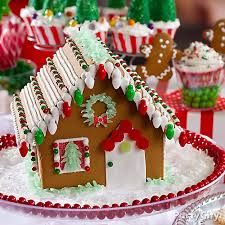 Christmas Cookie Decorating Kit Snowy Gingerbread House Idea Christmas Treats To Make The Season
