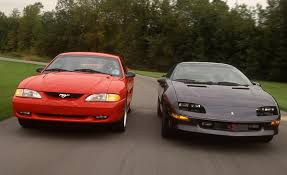 camaro z28 vs mustang gt 1994 ford mustang gt vs 1994 chevrolet camaro z28 comparison