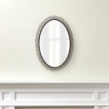 Crate And Barrel Wall Sconce Odette Iron Wall Mirror Crate And Barrel