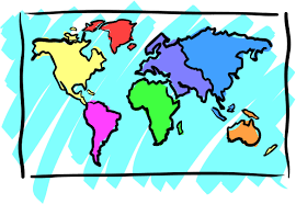 clip art world map northern and southern hemispheres color i in