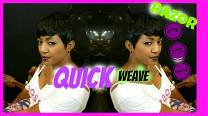 how to do a nautral 27 piece quick weave style youtube