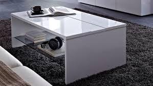 Wohnzimmer Tisch Hoch Manhattan Wohnzimmertisch In Weiß Hochglanz