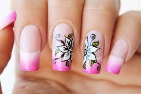decoraciondeñasflores decoraciódeñasfloressobredegradado flowernail