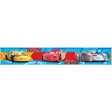 Decorative Wallpaper Borders Disney Cars Speed Self Adhesive Wallpaper Border 5m Boys