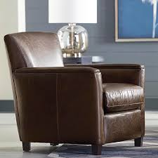 leather living room chair fireplace living