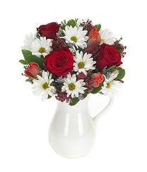 pitcher of roses hugs kisses bouquet at from you flowers