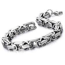 link men silver bracelet images Coolsteelandbeyond masculine style stainless steel jpg