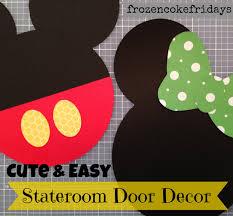 easy disney stateroom door decorations frozen coke fridays
