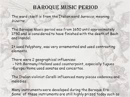 history of baroque and classical ppt