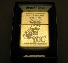 first world war ww1 your country needs you zippo armor tumbled