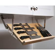 Kitchen Cabinets With Drawers That Roll Out by This Under Cabinet Knife Block Gives You A Simple Way To Store And