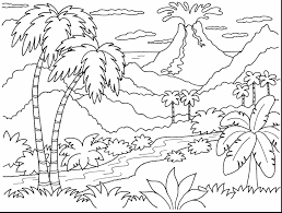 astounding coral reef coloring pages with volcano coloring pages