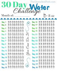 Water Challenge 30 Day Water Challenge Free Printable Free Printable Feel