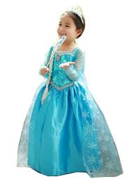 Princess Halloween Costumes Kids Disney Frozen Princess Elsa Costume Halloween Party Kids Children