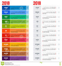 yearly wall calendar planner template for 2018 year vector design