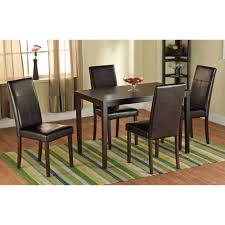 faux leather parson dining chair set of 2 walmart com
