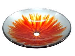 Glass Vessel Sinks Orange Blossom Glass Vessel Sink